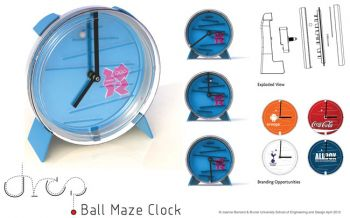 Drop Ball Maze Clock