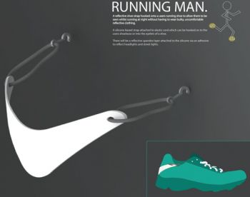 Running Man Reflective Strip